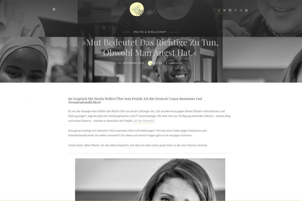 Bild: Interview meiner Projektes auf MiMa